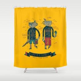 Mean Muggin Shower Curtain