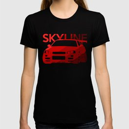 Nissan Skyline GT-R  - classic red - T-shirt