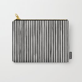 Form Brush Stripe Skinny Black on White Carry-All Pouch