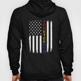 Juneteenth Flag Colors Black African American Flag Pride print Hoody