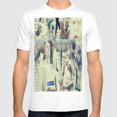 Come to me, I'll rest your soul Mens Fitted Tee MEDIUM White