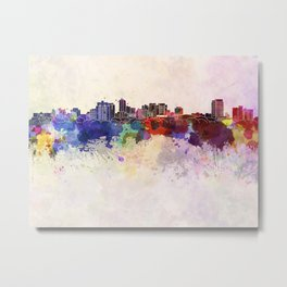 London ON skyline in watercolor background Metal Print
