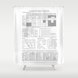 International Phonetic Alphabet Shower Curtain