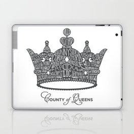 County of Queens | NYC Borough Crown (GREY) Laptop & iPad Skin