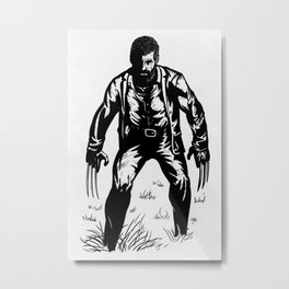 Logan Black and white Art Metal Print