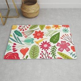 Cute Vector Floral Pattern Rug