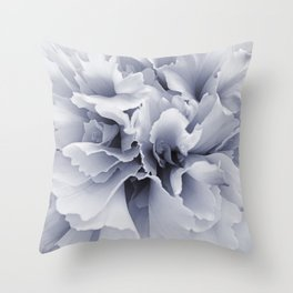 Grey Peony Bloom Throw Pillow