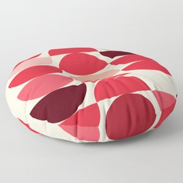 Red Bowls Floor Pillow