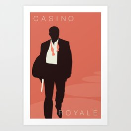 Minimalist Bond: Casino Royale Art Print