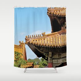 Forbidden City Rooftops Beijing China Shower Curtain