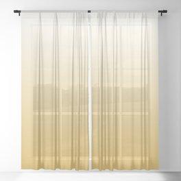 Mustard Yellow and White Gradient Sheer Curtain