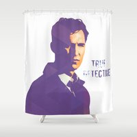 true detective Shower Curtains featuring TRUE DETECTIVE by Sunli