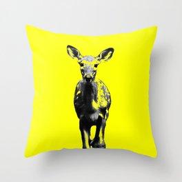 Deer IV yellow Throw Pillow