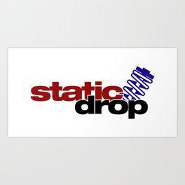 Static drop v4 HQvector Art Print