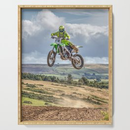 flying high in Motocross Serving Tray