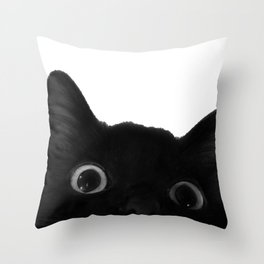 Here's lookin' at mew Throw Pillow