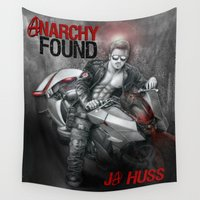 anarchy Wall Tapestries featuring Anarchy Found (Superhero Romance)  - by JA Huss by JA Huss
