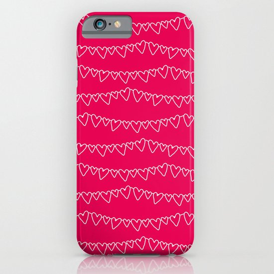 Red & White Heart Garland iPhone & iPod Case