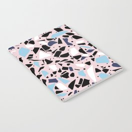 Terrazzo Spot Blues on Blush Notebook