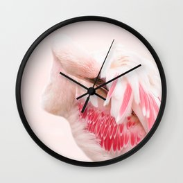 Flamingo pink Wall Clock