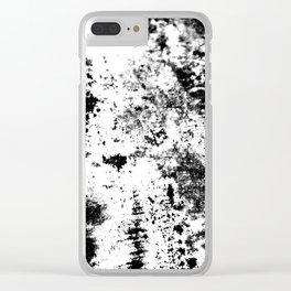 Noir Blanc Clear iPhone Case