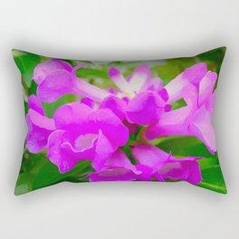 Trumpet Flower 1 Rectangular Pillow