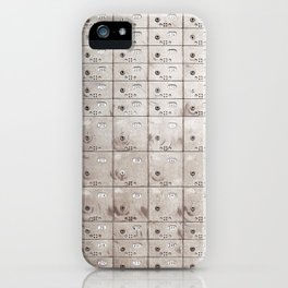 Chests with numbers iPhone Case