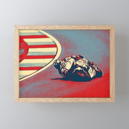Motogp Inclined Double Traction Ground Red Race Capability Framed Mini Art Print