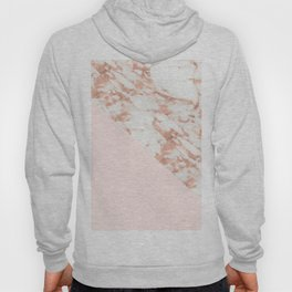Rose gold blush aesthetic Hoody