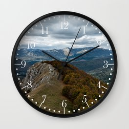 Abruzzo National Park from above Wall Clock