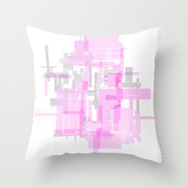 Baby Pink Rooms Throw Pillow