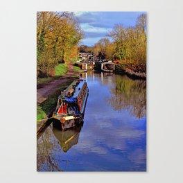 Stockton Locks and Canal. Canvas Print