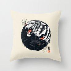 Taichi Tiger Throw Pillow