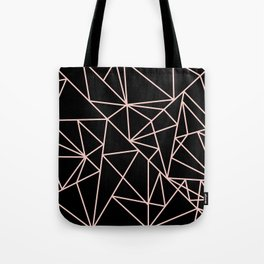 Abstract geometric pink black modern shapes pattern Tote Bag