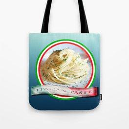 Food. Rolled spaghetti. Italian taste. Tote Bag