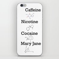 cocaine iPhone & iPod Skins featuring Caffeine, Nicotine, Cocaine, Mary Jane by MMHDesigns