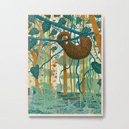 Pangolin Forest Metal Print