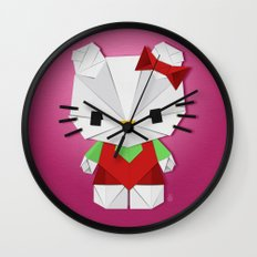 Catgami Wall Clock