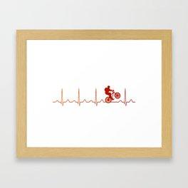 Mountainbike HeartbeatMountainbike Heartbeat Framed Art Print