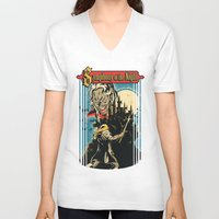castlevania V-neck T-shirts featuring Symphony of the night by MeleeNinja