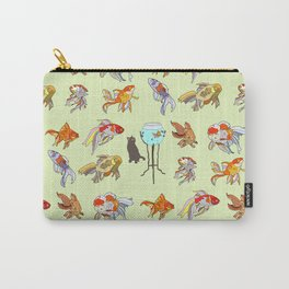 Cat and Goldfish Bowl Carry-All Pouch