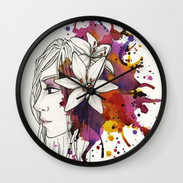 Lily - Colour me pretty Wall Clock
