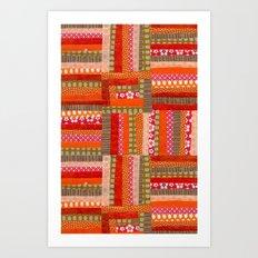 orange quilt Art Print