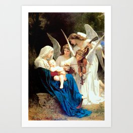 Madonna with Infant Jesus and Angels Virgin Mary Art Art Print