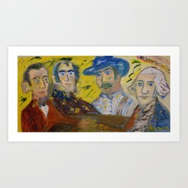 Juan Valdez, Lincoln, Bolivar & Washington Art Print