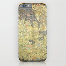 The Fra Mauro World Map Circa 1450 iPhone Case