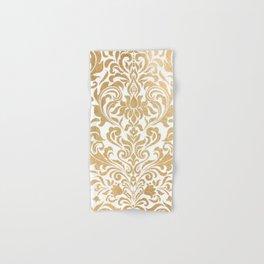 Gold foil swirls damask #12 Hand & Bath Towel