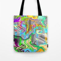 trippy Tote Bags featuring Trippy by Cale potts Art
