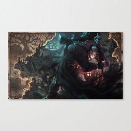 Undertaker Yorick Splash Art Wallpaper Background Official Art Artwork League of Legends lol Canvas Print