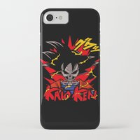 dbz iPhone & iPod Cases featuring Goku Skull DBZ by offbeatzombie